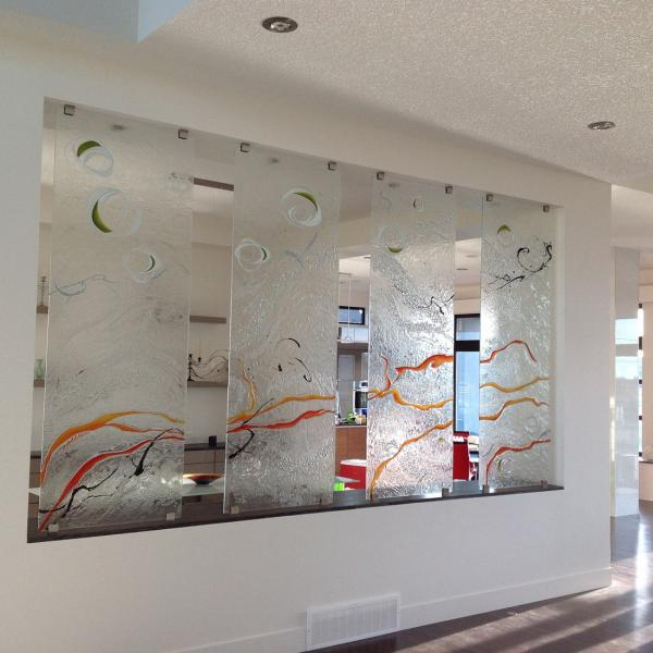 Custom Glass Glass Backsplash Kilnformed Glass Glass Art Glass Walls Art  Glass Glass Countertops Glass Walls Glass Dividers Glass Tiles » Flux Glass
